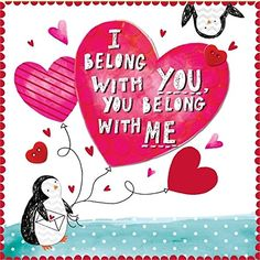 Rachel Ellen I Belong With You Penguin Valentines Day Card Amazoncouk Dp B01AAHT49A Refcm Sw R Pi 2dHKwb10E3FJD
