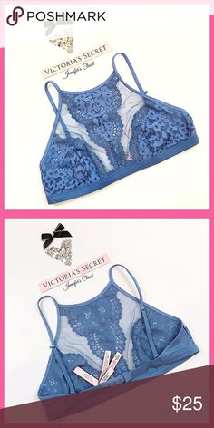 •Victoria's Secret• High neck lace bralette V I C T O R I A 'S ✦ S E C R E T    ❈ Condition: New with tags  ❈ Reasonable Offers Always Welcome!  ❈ Fast shipping Monday⇢Friday  Same/Next day after your purchase  ❈ Questions? Please comment below,  I will be more than happy to assist you ☻  ❈ Bundles are always encouraged to save on shipping!   ❈Thank you for stopping by! Hope to have you as a customer or returning customer   xo ღ Jennifer Victoria's Secret Intimates & Sleepwear Bras