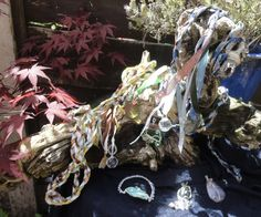 Handfasting cords and gemstone jewellery.