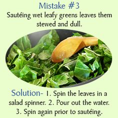 Avoiding common cooking mistakes