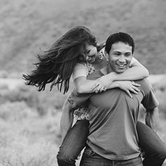 A spring engagement session at Lucky Peak by Nack Photography.