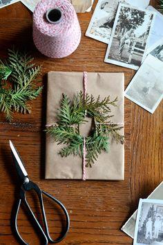 Christmas wrapping idea.