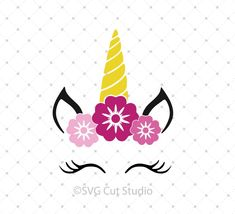unicorn face free svg cutting file for silhouette cricut cutting