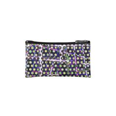 Polka Plaid Abstract by valxart.com Cosmetic Bags