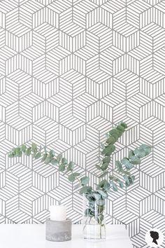 Geometric Flower Wallpaper