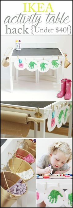 Ikea Hack | Latt Table turned into a toddler craft/play station for $40 total! www.charmingincharlotte.com