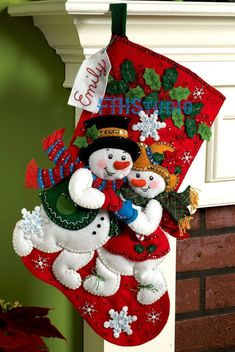 It's true that MerryStockings carries the full line of Bucilla felt Christmas stocking kits. We also have exclusive retired & discontinued Bucilla kits that you'll find no where else. With the largest inventory of kits anywhere, we know you'll find a kit Felt Stocking Kit, Christmas Stocking Kits, Felt Christmas Stockings, Cute Stockings, Felt Christmas Ornaments, Christmas Decorations, Christmas Colors, Red Christmas, Snowman 6