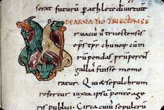 Grégoire de Tours: enluminure postérieure de reproduction de ses ouvrages.-