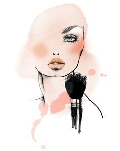 Art Sketches Easy - Totally obsessed with Christina Drejenstam& illustrations right now Art Sketches, Art Drawings, L'art Du Portrait, Makeup Illustration, Makeup Artist Logo, Makeup Wallpapers, Salon Art, Fashion Wall Art, Arte Pop