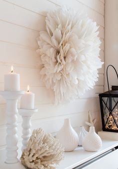 diy wall decor Let's diy an African juju hat. Making a knockoff of an African juju hat is much easier than you think. These feather wreaths make beautiful wall decor.
