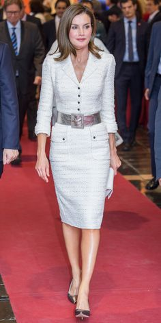 Look of the Day - QUEEN LETIZIA OF SPAIN from InStyle.com
