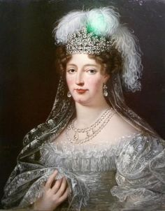 A portrait of the Duchesse Marie Therese d'Angoulême, daughter of Marie Antoinette and King Louis XVI by Robert Lefevre.