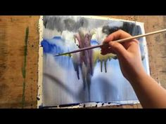 """Watercolor lesson, wet on wet technique without drawing: """"Piece of heaven"""" - YouTube"""