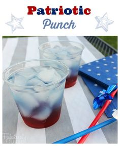 4th of july drink patriotic punch