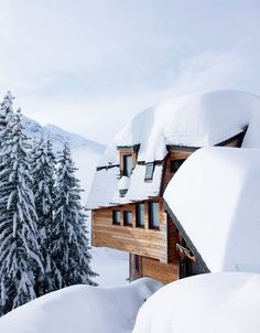 Snowy Chalet in the Alps