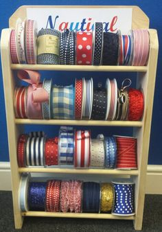 Nautical collection. S.E.Simon's, Berties Bows & May Arts ribbons at Craft, Hobby & Stitch CHSI ExCel London 2014 and Birmingham NEC