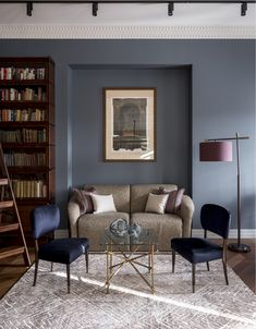 Bookcase Shelves, Bookcases, Pinterest Home, Muted Colors, Historic Homes, Interior Design, Modern, House, Inspiration