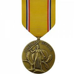 The American Defense Medal - WWII (ADSM) is granted to any military personnel who served between September 8, 1939 and December 6, 1941. It is necessary for U.S. Army personnel to actively serve for at least one year during the time period noted above.