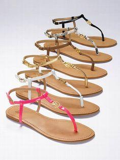 VS Collection NEW! Monogram T-strap Sandal #VictoriasSecret