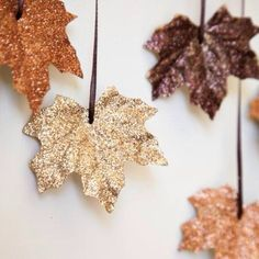Sparkly leaves