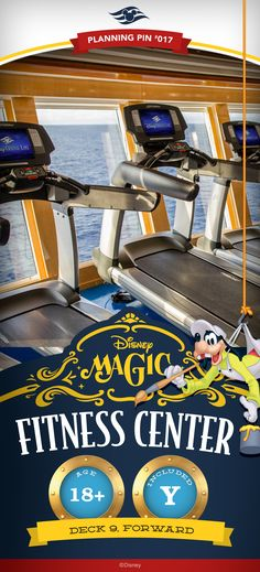 Fitness centers aboard Disney ships are expansive, state-of-the-art exercise clubs offering stunning ocean views. Each adults-only facility features everything you need to work out while at sea. Click to learn more about adult activities on a Disney Cruise!