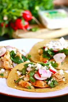 Chicken street tacos by eatliverun - inspired by.... Ruby's lunch =)  These are on my short-list!