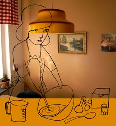 camilla engman - drawing on photo
