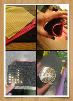 Homemade. Easy when going out and don't want to bring a bag. Cards and money fit in, easy to put away in your bra..