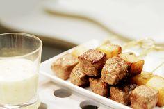 Beef and potato fondant with Bernaise sauce