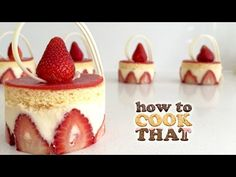 She Arranged The strawberry in the cupcake pan like A Flower shape when you see the next step you can't wait to tr it - Foood Style
