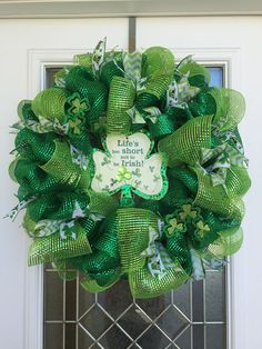St. Patrick's Day Wreath  St. Patty's Day by DecoDecorByPatina