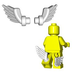 Originally crafted for the Greek god Hermes, these wings can give any minifig the ability to fly! Fits perfectly on the back of LEGO® minifigure legs or with any of our horned helmets.