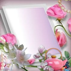 In ♡ Memory ~ Forever Written Pages Within My Heart ♡ ~ * ~ Treasured ☆ Keepsake ☆ Memories ~ * ~ Bow Wallpaper, Flower Background Wallpaper, Frame Background, Pink Wallpaper Iphone, Flower Backgrounds, Family Photo Frames, Picture Frames, Certificate Design Template, Boarders And Frames