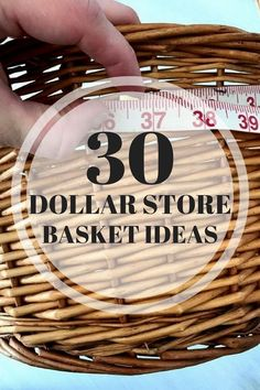 30 DIY Dollar Store Basket ideas to help you organize your home and create more storage. You know these cheap Dollar Store bins and baskets? Use them to make your home the most organized space ever with these. Dollar Store Bins, Dollar Store Crafts, Diy Crafts To Sell, Dollar Stores, Sell Diy, Easy Crafts, Do It Yourself Organization, Organization Hacks, Organizing Ideas