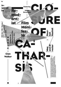 - Typographic Poster.  Designspiration — closure-of-catharsis.jpg (JPEG Image, 368x525 pixels)