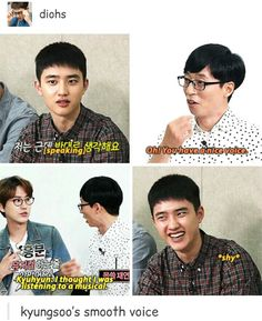 Kyungsoo's voice is lovely