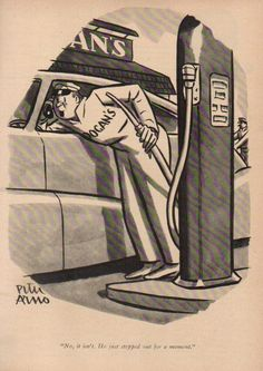 1947-Gas-Station-Attendant-Car-Phone-Peter-Arno-Art-The-New-Yorker-Cartoon