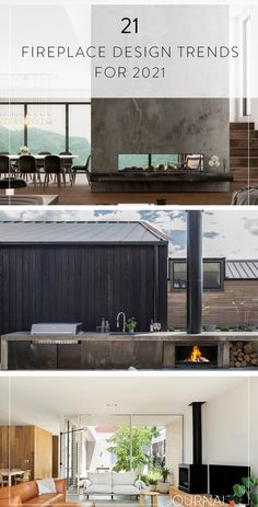 21 Fireplace Design Trends 2021 Installing A Fireplace, Fireplace Design, Design Trends, Design Inspiration, Outdoor Fireplaces, Architecture, House, Journal, Arquitetura