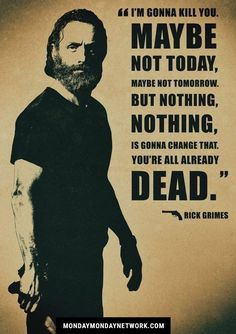 Rick Grimes from the walking dead, such an amazing role he has. Rick Grimes from the walking dead, such an amazing role he has. The Walking Dead Saison, The Walking Dead Poster, Carl The Walking Dead, Walking Dead Quotes, Walking Dead Show, Walking Dead Pics, Andrew Lincoln Walking Dead, Walking Dead Season 9, Andy Lincoln