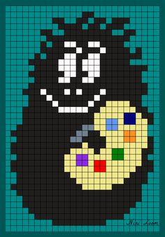 Barbapapa Perler Bead Pattern