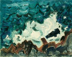 """Marin, """"Wave on Rock,"""" 1937.  He's a pretty awful painter.  Except this one."""