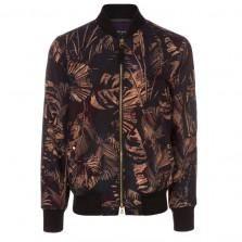 Paul Smith Jackets - Taupe Acid Jungle Print Bomber Jacket