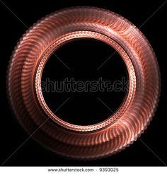 Copper round fractal.