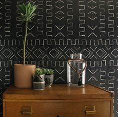 ethnic wallpaper, green touch