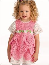 This is adorable for a precious little girl!  The pattern can be found at patternscentral.com  Called Beloved