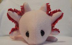 Pink/Leucistic  Axolotl Plush