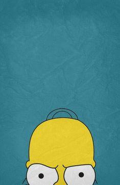 Homer Simpson by Begum Ozdemir Simpson Wallpaper Iphone, Wallpaper Iphone Cute, Cartoon Wallpaper, Cute Wallpapers, Iphone Wallpaper, Homer Simpson, Simpsons Art, Futurama, Pop Art
