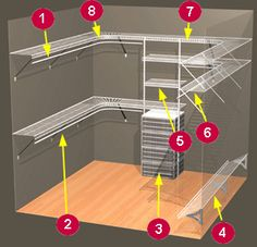 40 Ideas For Wire Closet Organization Clothes Spaces Wire Closet Shelving, Closet Shelves, Closet Storage, Closet Organization, Wire Shelves, Corner Closet, Front Closet, Small Walkin Closet, Master Bedroom Closet