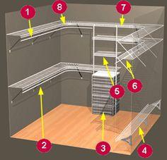 closetmaid white wire organizer closet