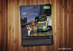 Anúncio para o cliente Veísa Veículos Mercedes-Benz sobre o Actros: referência em bem-estar, desempenho e segurança!